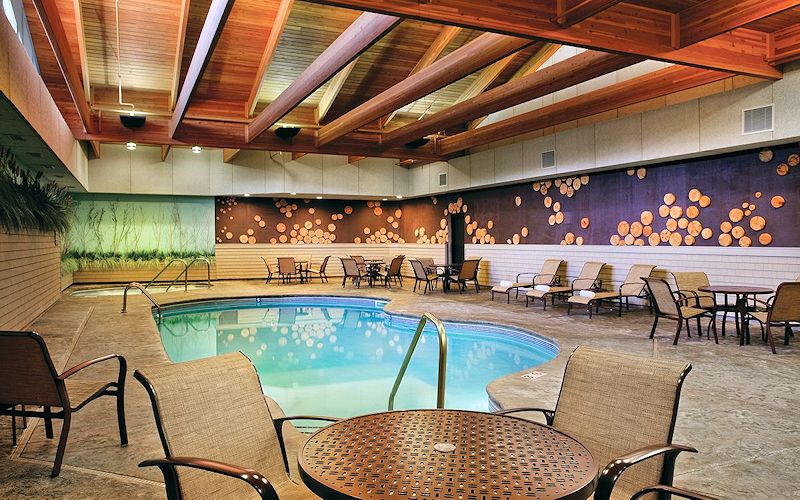 Beautiful Indoor Pool at The Lodge on Lake Detroit