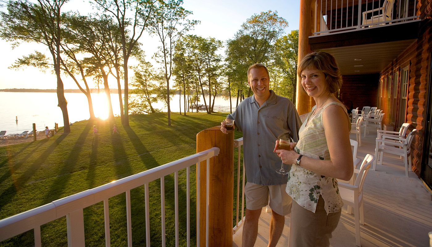 Sunset Toast at The Lodge on Lake Detroit
