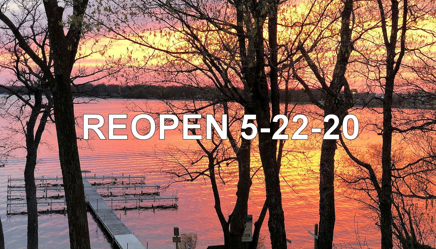 Reopen May 22, 2020 at The Lodge on Lake Detroit