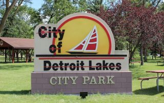 Detroit Lakes City Park Near The Lodge on Lake Detroit