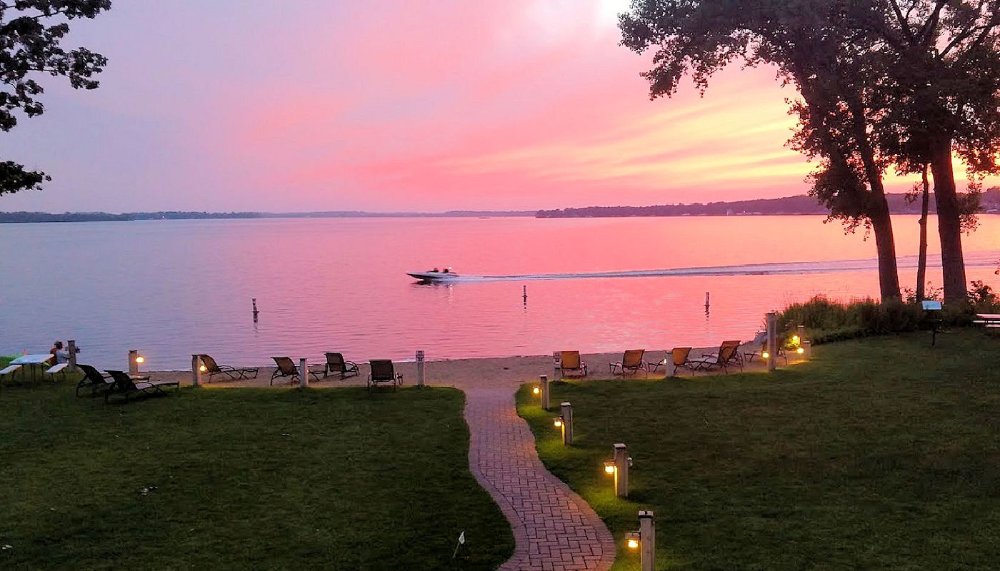 Sunsets are a great time at The Lodge on Lake Detroit in Detroit Lakes Minnesota